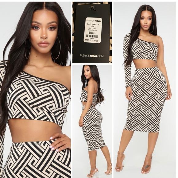 Fashion Nova Dresses & Skirts - NWT Fashion Nova Can't Keep Up 2 Piece Set Large